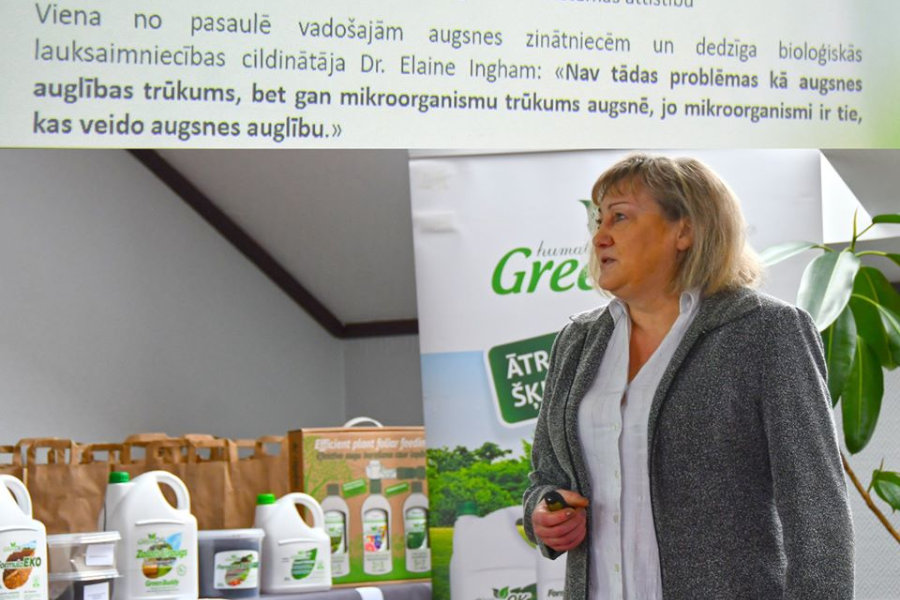 Latvijas humusvielu institūta (LHVI) zinātnes un attīstības vadītāja, mikrobioloģe Dr. biol. Simona Larsson